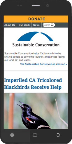 Sustainable Conservation mobile blog