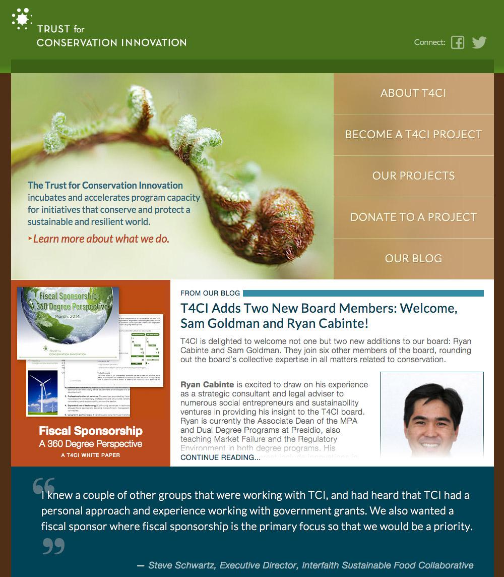 Trust for Conservation Innovation screenshot